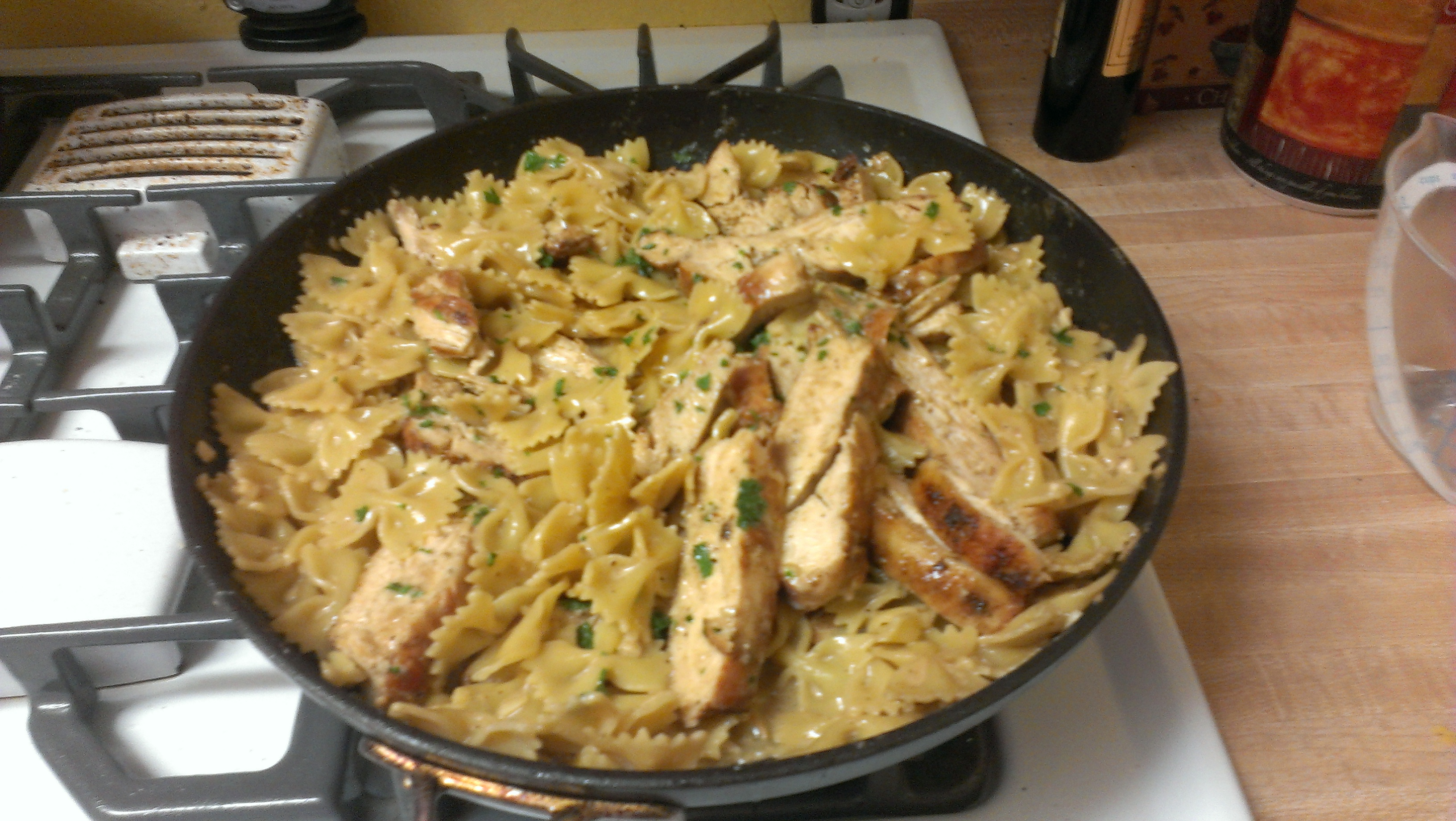 Recipe 27 Bow Tie Chicken Alfredo Only Two People Blog